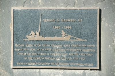 George S. Haswell III Marker image. Click for full size.
