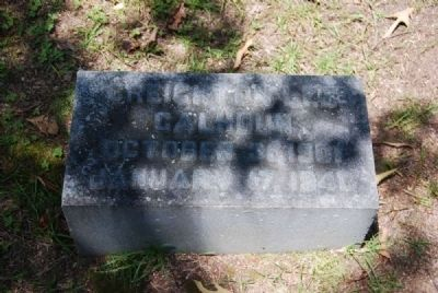 Creighton Lee Calhoun Tombstone image. Click for full size.
