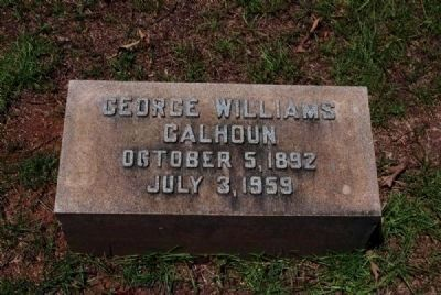 George Williams Calhoun Tombstone image. Click for full size.