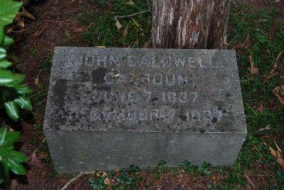 John Caldwell Calhoun Tombstone image. Click for full size.