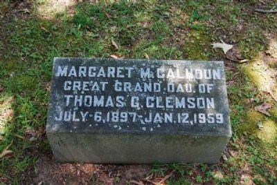 Margaret M. Calhoun Tombstone image. Click for full size.