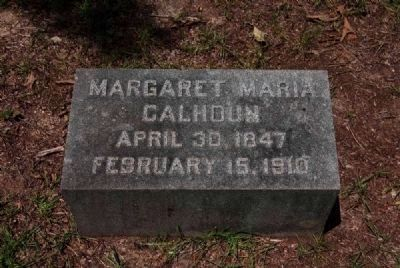 Margaret Maria Calhoun Tombstone image. Click for full size.