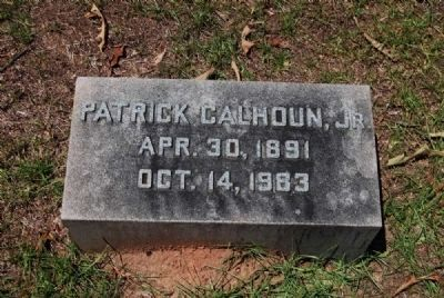 Patrick Calhoun, Jr. Tombstone image. Click for full size.