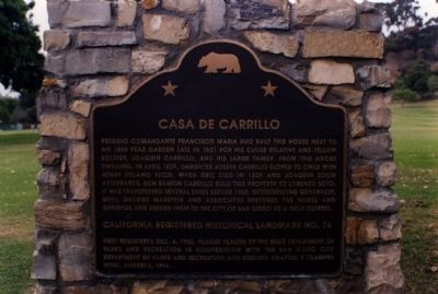 Casa De Carrillo Marker image. Click for full size.