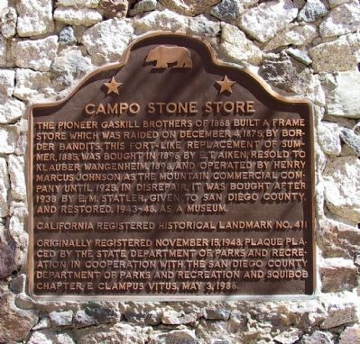 Campo Stone Store Marker image. Click for full size.