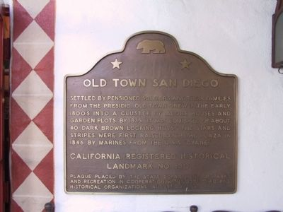 Old Town San Diego State Historic Park Marker image. Click for full size.