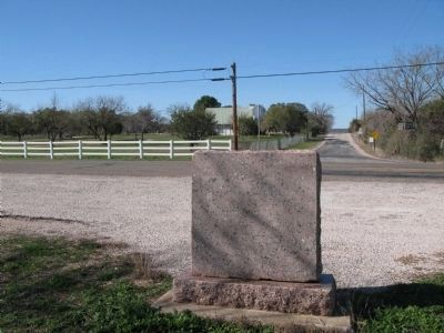 Hoover's Valley Cemetery Marker, view from back, looking towards the cemetery image. Click for full size.