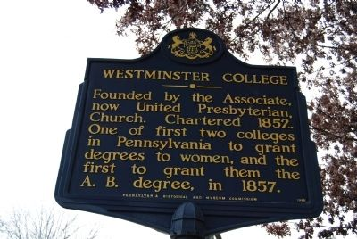 Westminster College Marker image. Click for full size.