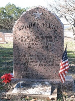 Whitlock Family Marker image. Click for full size.