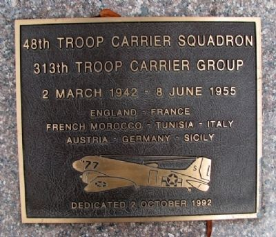 48th Troop Carrier Squadron Marker image. Click for full size.