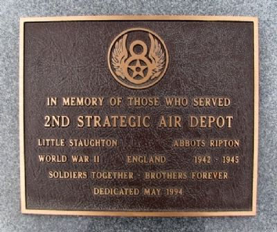 2nd Strategic Air Depot Marker image. Click for full size.