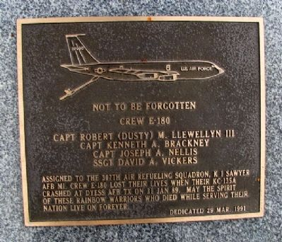 Crew E-180, 307th Air Refueling Squadron Marker image. Click for full size.