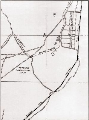 Map of Camp Coxcomb and Vicinity (ca. 1943) image. Click for full size.