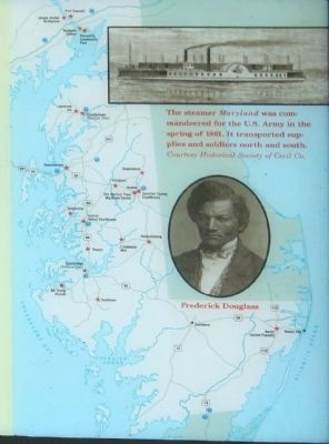 Maryland Map of the Eastern Shore Civil War sites and... Steamer Maryland image. Click for full size.