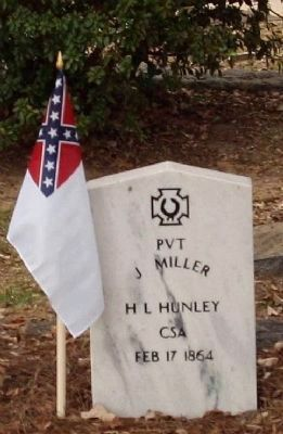 H. L. Hunley Memorial , a Crew 3 member image. Click for more information.