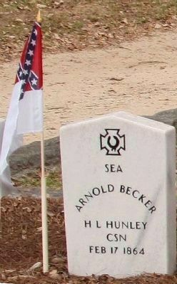 H. L. Hunley Memorial, a Crew 3 member image. Click for more information.