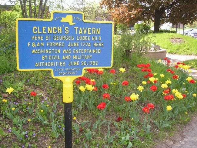Clench's Tavern Marker at Liberty Park in Schenectady image. Click for full size.