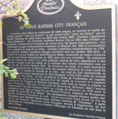 Old French Kansas City Marker image. Click for full size.