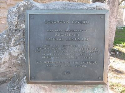 Longhorn Caverns, Registered Natural Landmark Marker image. Click for full size.