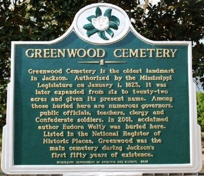 Greenwood Cemetery Marker image. Click for full size.