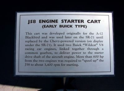 Panel #3: J58 Engine Starter Cart<br>(Early Buick Type) image. Click for full size.