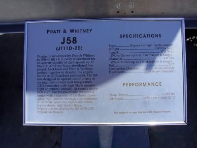 Panel #2: Pratt & Whitney J58<br>(JT11D-20) image. Click for full size.