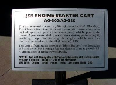 Panel #4: J58 Engine Starter Cart<br>AG-300/AG-330 image. Click for full size.