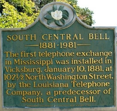 South Central Bell Marker image. Click for full size.