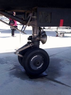 Lockheed SR-71A: Nose gear image. Click for full size.