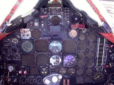 Lockheed A-12: Cockpit instrument control panel image. Click for full size.