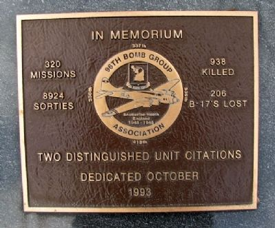 96th Bomb Group Association Marker image. Click for full size.