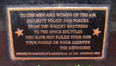 USAF Security Police Dedication Marker image. Click for full size.