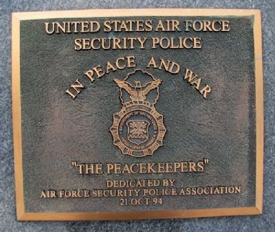 "USAF Security Police ""The Peacekeepers"" image. Click for full size."
