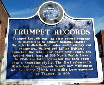 Trumpet Records Marker image. Click for full size.