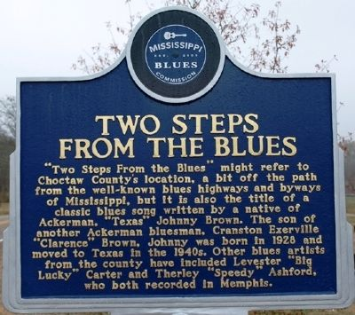 Two Steps From The Blues Marker image. Click for full size.