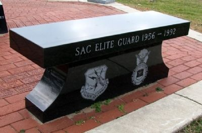 USAF Security Police SAC Elite Guard Bench image. Click for full size.
