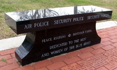 USAF Security Police Bench image. Click for full size.