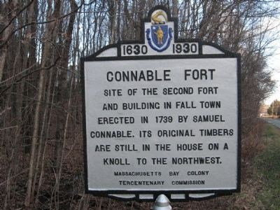 Connable Fort Marker after restoration image. Click for full size.
