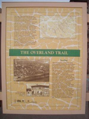 The Overland Trail Marker image. Click for full size.