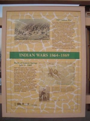 Indian Wars 1864-1869 Marker image. Click for full size.