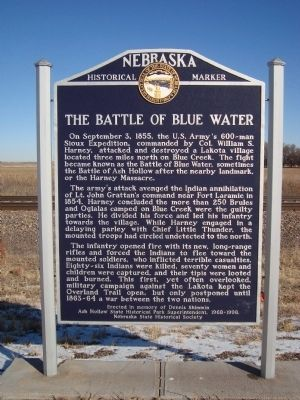 The Battle of Blue Water Marker image. Click for full size.