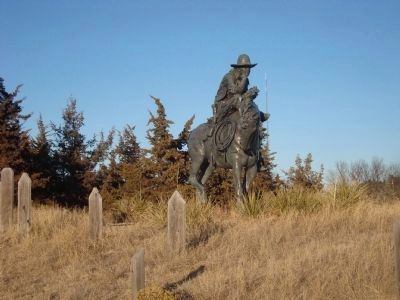 The Trail Boss Statue in Boot Hill image. Click for full size.