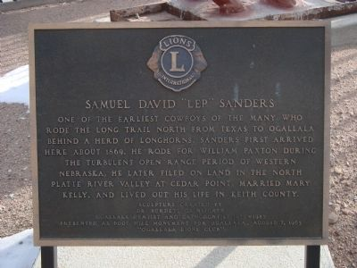 "Samuel David ""Lep"" Sanders Marker image. Click for full size."