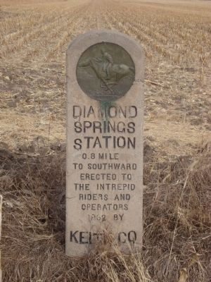 Diamond Springs Station Marker image. Click for full size.