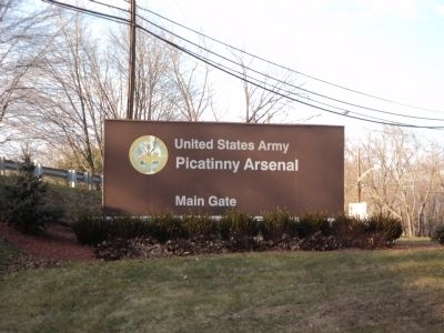 Entrance to Picatinny Arsenal image. Click for full size.