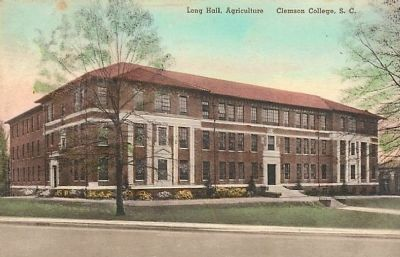 Long Hall (1937)<br>Clemson Historic District #1 image. Click for full size.