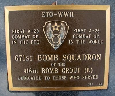 671st Bomb Squadron Marker image. Click for full size.