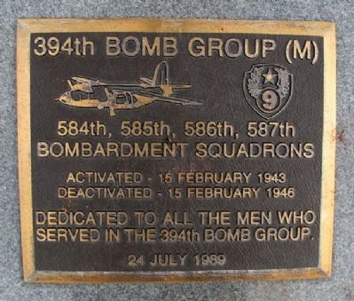 394th Bomb Group (M) Marker image. Click for full size.