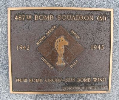 487th Bomb Squadron (M) Marker image. Click for full size.