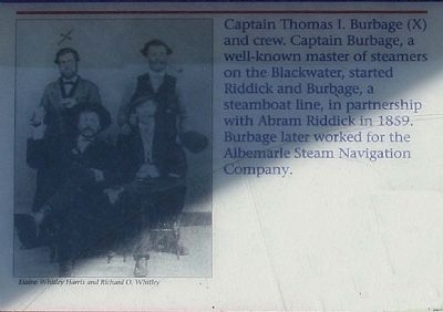 Captain Thomas I. Burbage and crew... image. Click for full size.